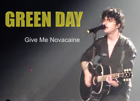green day, give me novacaine