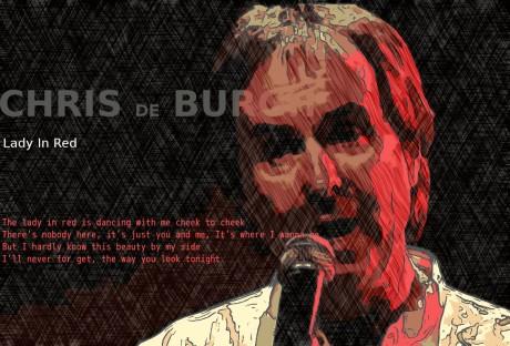 chris de burgh, lady in red